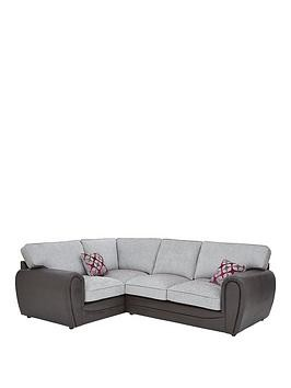 Save £75 at Very on Moreno Faux Snakeskin And Fabric Left Hand Corner Group Standard Back Sofa