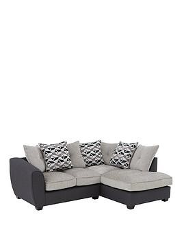 Save £55 at Very on Juno Fabric Compact Right Hand Corner Chaise Scatter Back Sofa