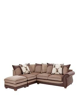 Save £85 at Very on Arran Left-Hand Corner Chaise Sofa With Matching Footstool