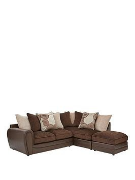 Save £75 at Very on Marrakesh Right Hand Single Arm Scatter Back Corner Group Sofa + Footstool