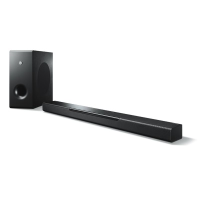 Save £46 at PRCDirect on Yamaha MUSICCAST BAR 400 Wireless MusicCast Soundbar, Subwoofer, DTS Virtual X