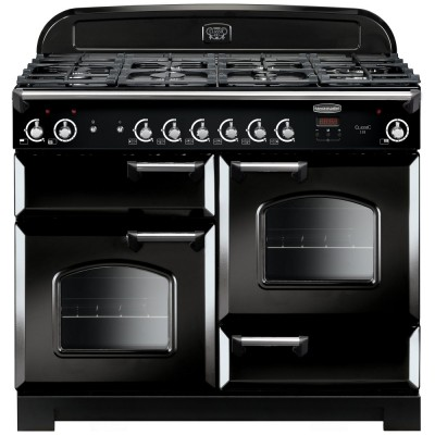 Save £229 at Appliance City on Rangemaster CLA110NGFBL/C Classic 110cm Gas Range Cooker 116660 - BLACK