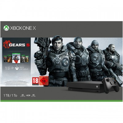 Save £50 at AO on Xbox One X 1TB with Gears 5, 1 Month Game pass and 1 Month Xbox Live Gold - Black