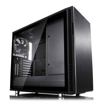 Save £15 at Scan on Fractal Define R6 Blackout Tempered Glass USB-C Midi PC Gaming Case