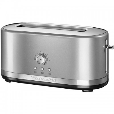 Save £22 at AO on KitchenAid 5KMT4116BCU 4 Slice Toaster - Contour Silver