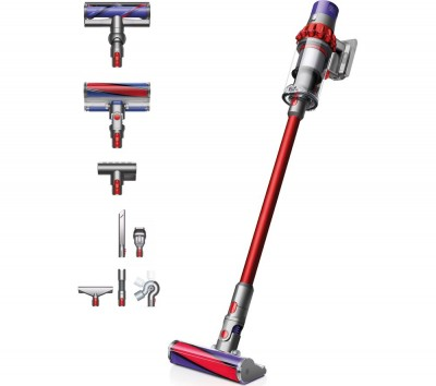 Save £100 at Currys on DYSON Cyclone V10 Total Clean Cordless Vacuum Cleaner - Iron, Red