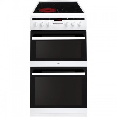 Save £39 at AO on Amica AFC5550WH 50cm Electric Cooker with Ceramic Hob - White - A/A Rated