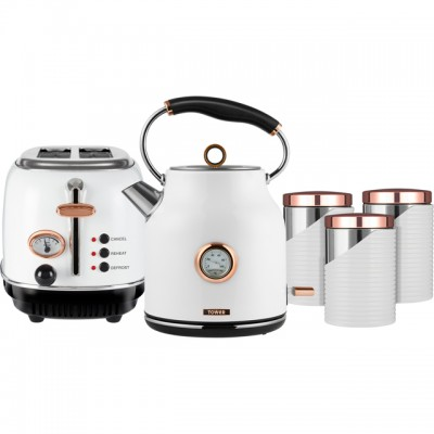 Save £10 at AO on Tower AOBUNDLE008 Kettle And Toaster Sets - White / Rose Gold