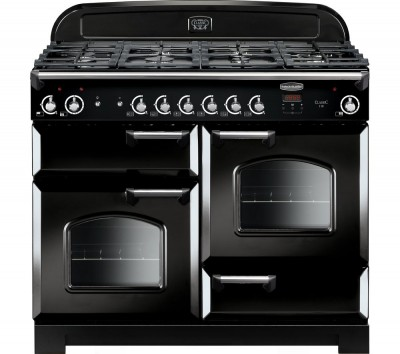 Save £650 at Currys on Rangemaster Classic 110 Gas Range Cooker - Black & Chrome, Black
