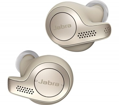 Save £40 at Currys on JABRA Elite 65t Wireless Bluetooth Headphones - Gold Beige, Gold