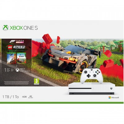 Save £40 at AO on Xbox One S 1TB with Forza Horizon 4 with Lego Speed Champions Add On, 1 Month Game pass and 1 Month Xbox Live Gold - White