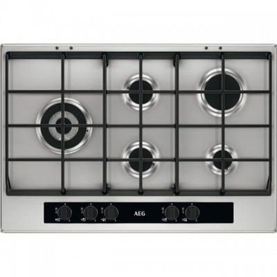Save £80 at AO on AEG HG755551SY 74cm Gas Hob - Stainless Steel