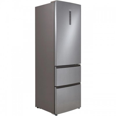Save £100 at AO on Haier A3FE635CGJE 60/40 Frost Free Fridge Freezer - Silver - A+ Rated