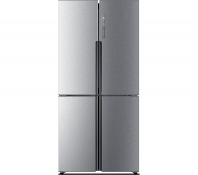 Save £140 at Currys on HAIER Slim American Style Fridge Freezer HTF-456DM6 60/40 - Stainless Steel, Stainless Steel