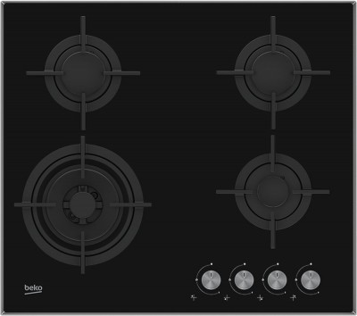 Save £30 at Currys on BEKO HCLW64222S Gas Hob - Black, Black