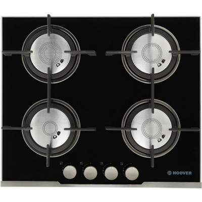 Save £75 at AO on Hoover Vogue HGV64SXVB 60cm Gas Hob - Stainless Steel / Black Glass