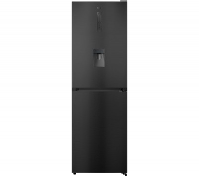 Save £50 at Currys on HISENSE RB412N4WF1 50/50 Fridge Freezer - Black Steel, Black