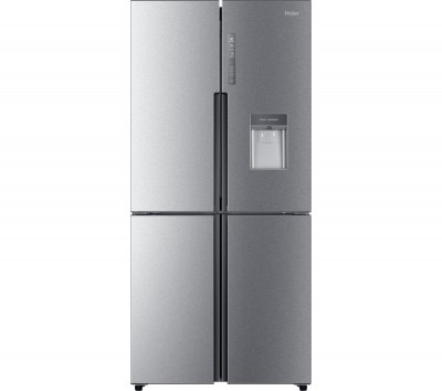 Save £100 at Currys on HAIER Slim American Style Fridge Freezer Cube HTF-456WM6 - Silver, Silver
