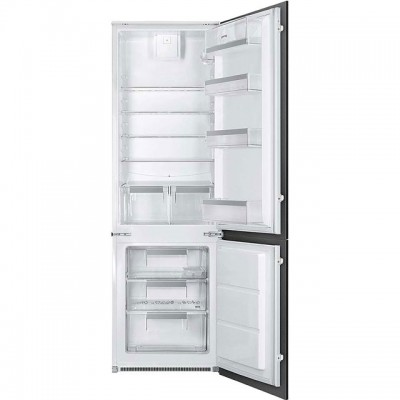 Save £70 at AO on Smeg UKC7280FP1 Integrated 70/30 Fridge Freezer with Sliding Door Fixing Kit - White - A+ Rated