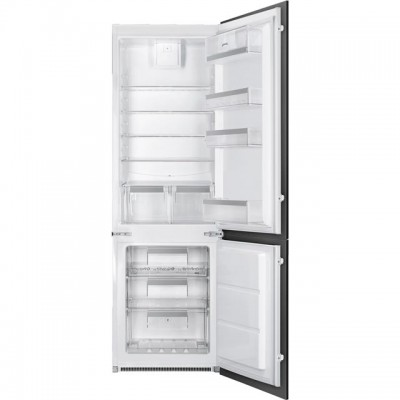 Save £70 at AO on Smeg UKC7280NEP1AO Integrated 70/30 Frost Free Fridge Freezer with Sliding Door Fixing Kit - White - A+ Rated
