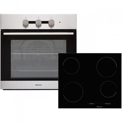 Save £50 at AO on Hisense BI6031CXUK Built In Electric Single Oven and Ceramic Hob Pack - Stainless Steel / Black - A Rated