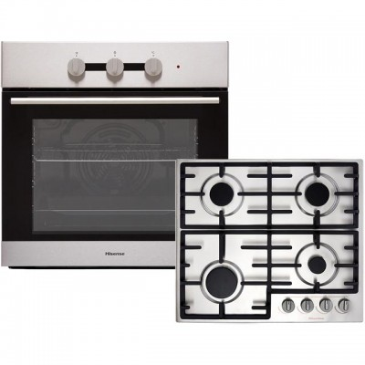 Save £80 at AO on Hisense BI6031GXUK Built In Electric Single Oven and Gas Hob Pack - Stainless Steel - A Rated