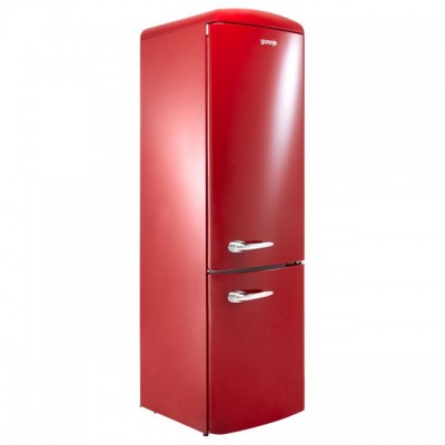 Save £270 at AO on Gorenje Retro Collection ORK193R 70/30 Fridge Freezer - Burgundy - A+++ Rated