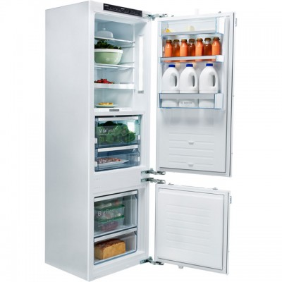 Save £250 at AO on Bosch Serie 8 KIF87PF30 Integrated 70/30 Fridge Freezer with Fixed Door Fixing Kit - White - A++ Rated