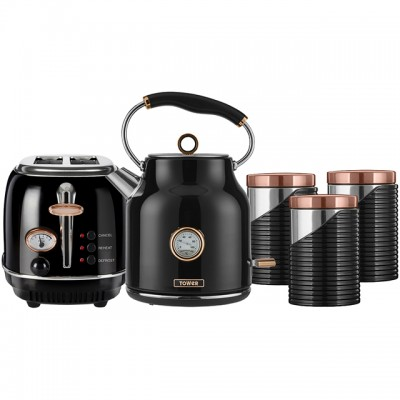 Save £10 at AO on Tower AOBUNDLE005 Kettle And Toaster Sets - Black / Rose Gold