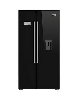 Save £250 at Very on Beko Asd241B American-Style Fridge Freezer With Non-Plumbed Water Dispenser - Black