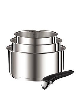 Save £11 at Very on Tefal Ingenio 4-Piece Saucepan Set - Stainless Steel