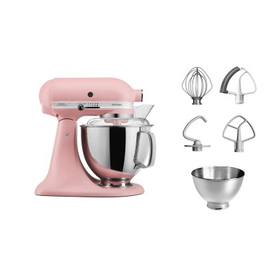 Save £50 at PRCDirect on KitchenAid 5KSM175PSBDR 4.8 Litre Artisan Stand Mixer, Dried Rose