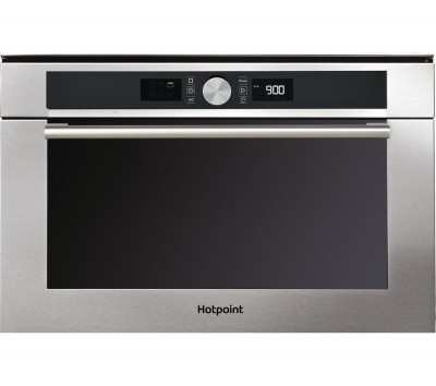 Save £80 at Currys on HOTPOINT MD 454 IX H Built-In Combination Microwave - Stainless Steel, Stainless Steel
