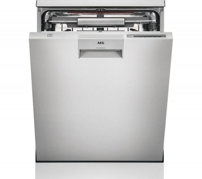 Save £100 at Currys on AEG ComfortLift FFE63806PM Full-size Dishwasher - Stainless Steel, Stainless Steel