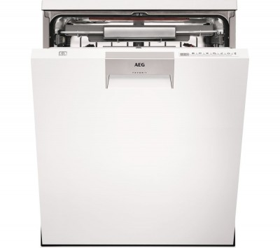 Save £100 at Currys on AEG ComfortLift FFE63806PW Full-size Dishwasher - White, White