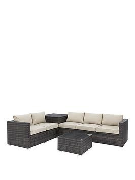 Save £100 at Very on Coral Bay 5-Seater Corner Garden Sofa With Storage And Table