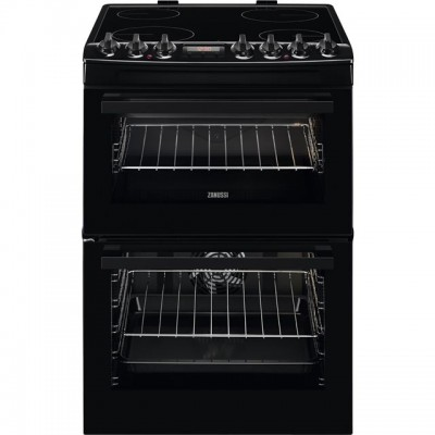 Save £89 at AO on Zanussi ZCV69350BA 60cm Electric Cooker with Ceramic Hob - Black - A/A Rated