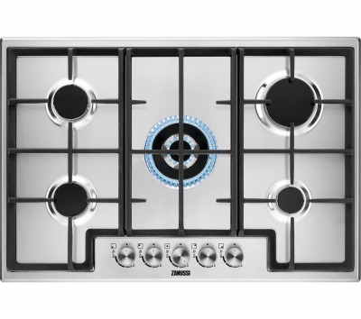 Save £40 at Currys on ZANUSSI ZGH76524XX Gas Hob - Stainless steel, Stainless Steel