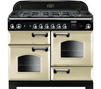 Save £470 at Currys on Rangemaster Classic 110 cm Gas Range Cooker - Cream & Chrome, Cream