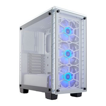 Save £38 at Scan on Corsair Crystal 460X RGB White Tempered Glass PC Case inc 3 x 120mm RG