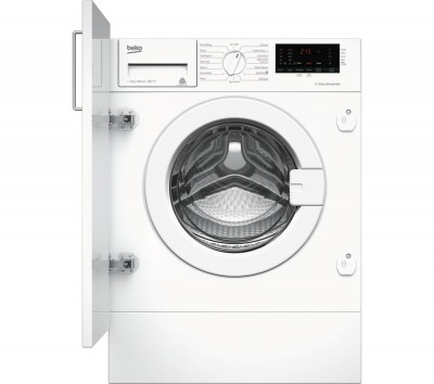 Save £40 at Currys on BEKO WIX765450 Integrated 7 kg 1600 Spin Washing Machine - White, White