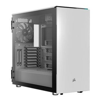 Save £24 at Scan on Corsair Carbide 678C Quiet White Glass Midi PC Gaming Case
