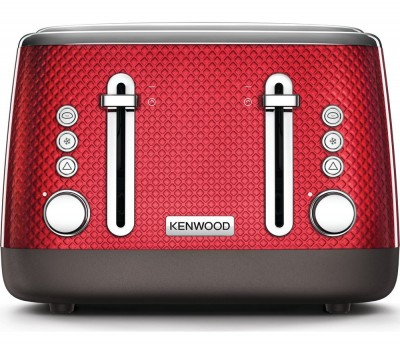 Save £10 at Currys on Mesmerine TFM810RD 4-Slice Toaster - Deep Red, Red