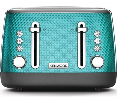 Save £10 at Currys on Mesmerine TFM810BL 4-Slice Toaster - Blue, Blue