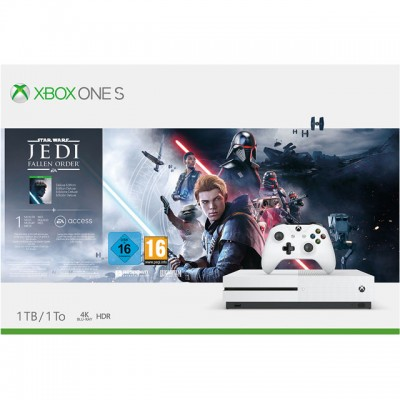 Save £40 at AO on Xbox One S 1TB with Star Wars Jedi: Fallen Order™ Deluxe Edition (Digital Download) 1 Month Game pass, 1 Month Xbox Live Gold and 1 Month EA Access - White