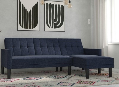 Save £120 at Dreams on Valentina 3 Seater Corner Sofa Bed - Navy BLUE