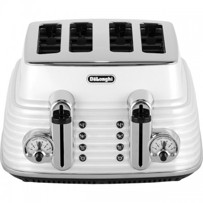 Save £30 at AO on De'Longhi Scultura CTZ4003.W 4 Slice Toaster - White