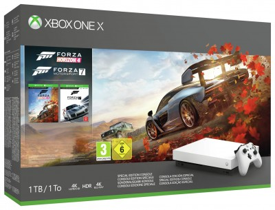 Save £190 at Argos on Xbox One X White 1TB Console & Forza Special Edition Bundle