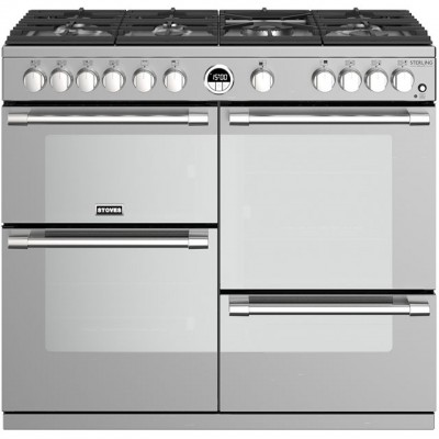 Save £251 at AO on Stoves Sterling Deluxe S1000G 100cm Gas Range Cooker with Electric Grill - Stainless Steel - A+/A/A Rated