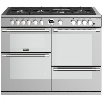 Save £470 at AO on Stoves Sterling Deluxe S1100G 110cm Gas Range Cooker with Electric Grill - Stainless Steel - A/A/A Rated